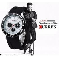 Relógio Quartz Masculino Curren Modelo 8163 Frete Grátis