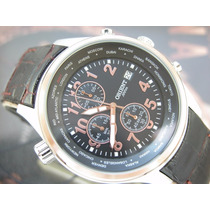 Relógio Orient Cronógrafo Aço E Plaque Ouro Rose Mtscc020