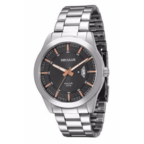 Relógio Seculus Long Life 2 Anos Garantia Calen 28440g0svna1