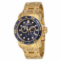Relógio Invicta Pro Diver 0073 Dourado - Azul Masculino