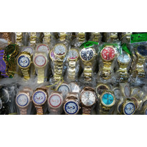 Kit Relógio Feminino Dourado/prata/bronze Atacado Lote C/10