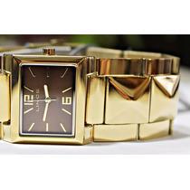 Relógio Dourado Lince Feminino (orient) Lqg4273l Wr 30 M --