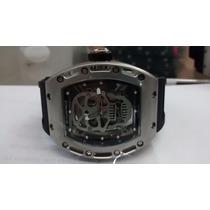 Relógio Richard Mille Rm052 Skull Stell Gold Frete Gratis !