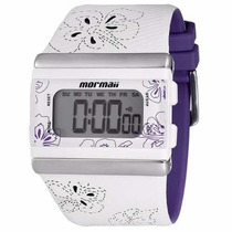 Relógio Feminino Branco/roxo Mormaii - Yp9443/8g