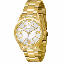 Relógio Dourado Feminino Lince Lrgj034l Garantia Orient