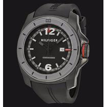 Relógio Tommy Preto Pulseira Silicone Borracha