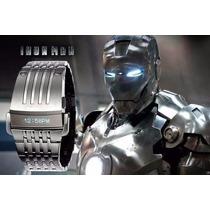 Relógio Diesel Iron Man Prata Dz7080 Garantia Sedex Grátis