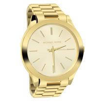 Relógio Michael Kors Mk3179 Dourado Com Caixa E Manual!