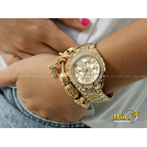Relogio Guess Feminino Original 92347 D Com Cristais - 35 Mm