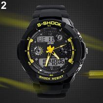 Relógio Sshock Led Dig E Anal Skmei Pronta Entrega + Brinde!