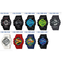 Relógio Casio G-shock Ga 110 Wr200 H.mundial 5 Alarmes Pt