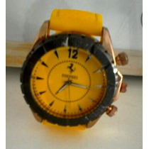 Relógios Stainless Steel - Unisex (vermelho E Amarelo)