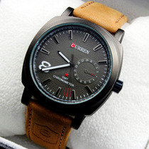 Relógio Luxuoso Curren Pulseira De Couro Esportivo Barato