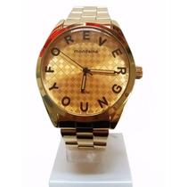 Relógio Dourado Mondaine 76459lpmvde1 Forever Young 3atm