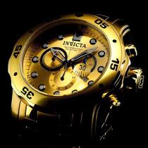Invicta 0074 Pro Diver Gold Banhado A Ouro 18k Original