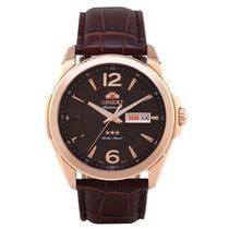 Relógio Masculino Automático Orient 469rp050 Marrom Couro