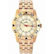 Relógio Champion Masculino Ca30230g Dourado Calendário Prova