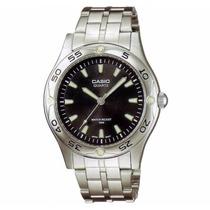 Relógio Casio Mtp-1243 D-1av Pulseira E Caixa De Aço Wr-50 M