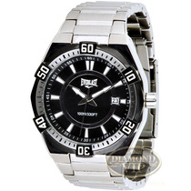 Relógio Masculino Everlast Prata Preto Aço Inoxidável Origin