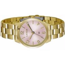 Relógio Lince Dourado Feminino (orient) Lrg4301l Rosa