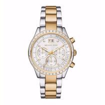 Relógio Feminino Michael Kors Prata/dourado Mk6188 Lindo