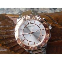 Relógio Feminino Pandora Griffe Famosa Prata/dourado