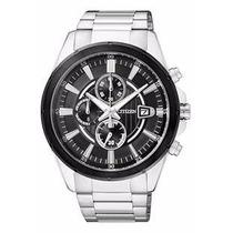 Relógio Masculino Prata Mostrador Preto Citizen Tz20420t