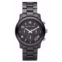 Relógio Michael Kors Mk5162 Cerâmica Preto,completo F.gratis