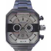 Relógio Masculino Diesel Todo Preto Grande Promoção