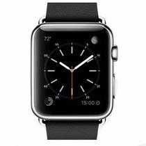 Apple Watch 42mm Pulseira Couro Preto Clássico + Sedex