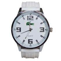 Relógio Masculino Lacoste Branco Esporte De Luxo