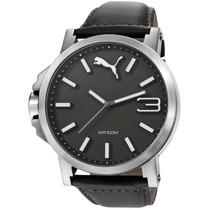 Relógio Puma Grande Pul. Couro 2 Anos Garantia 96216g0pmnc1