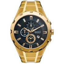 Relógio Orient Masculino Dourado Chronograph Mgssc008 P1kx