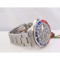 Relógio Gmt 2 Master Azul Vermelho Promoção Sedex Grátis