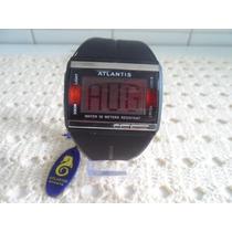 Relógio Atlantis Original Modelo Digital Sport Visor Black