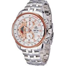 Relógio Casio Edifice Ef-558 D-7a Cronógrafo Wr-100 M B