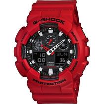 Relogio Casio G-shock Ga-100 Wr-200 5 Alarmes Hora Mundial V