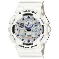 Relógio Casio G-shock Ga-100a-7 H.mundial 5 Alarmes Wr-200 B