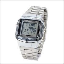 Relógio Casio Db-360 Databank 30 Tel 5 Alarmes Wr Prata N.f.