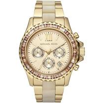 Relógio Michael Kors Mk5874 Dourado Madreperola Completo