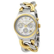 Relógio Michael Kors Mk3199 Prata E Dourado Frete Grátis.