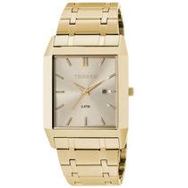 Relógio Masculino Technos Slim Dourado Quadrado 1n12aj/4x