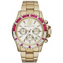 Relógio Michael Kors Mk5871 Gold Pink Original, Garantia