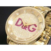Relógio D&g Dolce & Gabbana Dw0377 Com Swarovski Mod Neymar