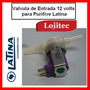 Valvula De Entrada Agua Purificador Purifive Latina 12 Volts