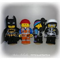 Lego Movie - Kit C/ 5 Personagens Feltro P/ Decoração