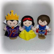 Festa Kit 2 Em Feltro: Pequeno Principe, Branca Neve, Heróis
