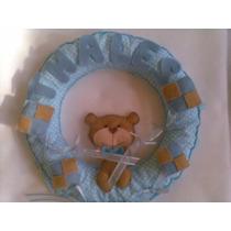Enfeite Porta Maternidade Ursinho Com Pipa Poá Azul