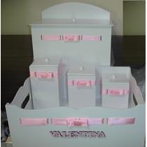 Promoção * Kits De Higiene 3 Peças Em Mdf * Branco