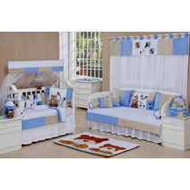 Farmacinha Azul Quarto De Bebê Menino Coleção Papai Urso 1pç